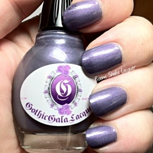 Gothic Gala Lacquers - Lilac Dreams (with topcoat and cold tips)