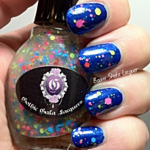 Gothic Gala Lacquers - S-extacy with Neon Night Life