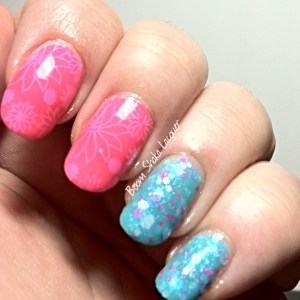 Alchemy Lacquers with China Glaze You Drive me Coconuts (Stamped with MoYou London Pro - 13)