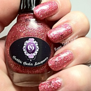 Gothic Gala Lacquers - Pink Ice (With GGL Smooth me Over and Topcoat)