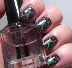 Reverse Stamping with Pretty & Polished Dusty Cremes (stamp is MoYou London - Explorer 07)