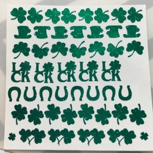 Alchemy Lacquers - St. Patrick's Day Glitter Vinyl Decals