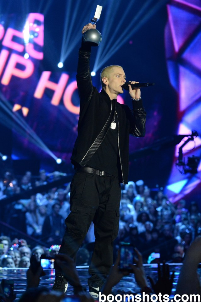 Eminem at the EMAs