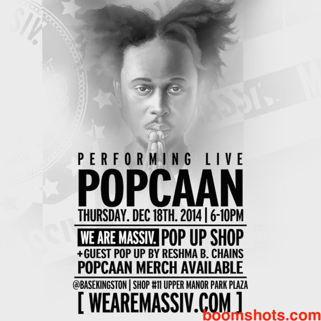 Popcaan Pop-Up Shop Poppin' Off in Kingston