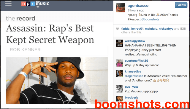 Reasoning with Assassin aka Agent Sasco—Rap's Best Kept Secret Weapon