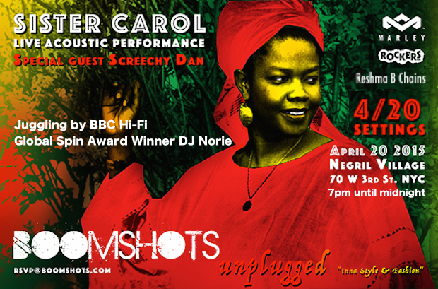 The House of Marley Presents: Boomshots Unplugged Inna Style & Fashion