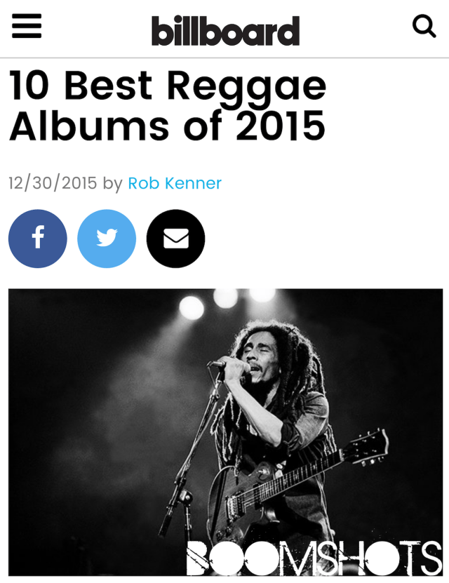 Billboard's Best Reggae Albums of 2015