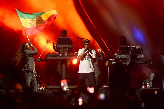 Jay-Z Brings Damian Marley Out to Rock Meadows Festival