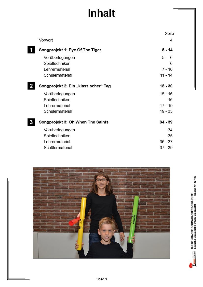 Bühnenstarke Boomwhacker-Projekte - Inhaltsverzeichnis