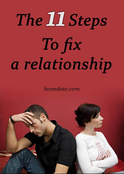 The 11 steps to fix a relationship