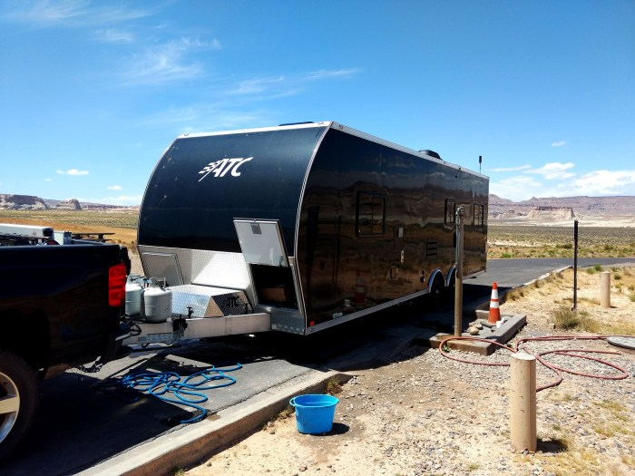rv dump station with potable water