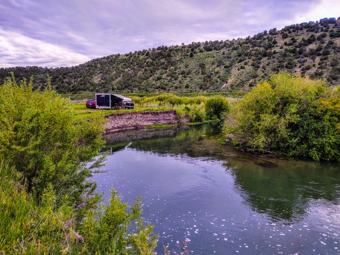 portneuf lower campground, lava hot springs, idaho