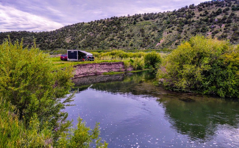 Free Camping at Lava Hot Springs, Idaho