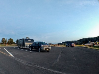 wyoming rest area overnight parking