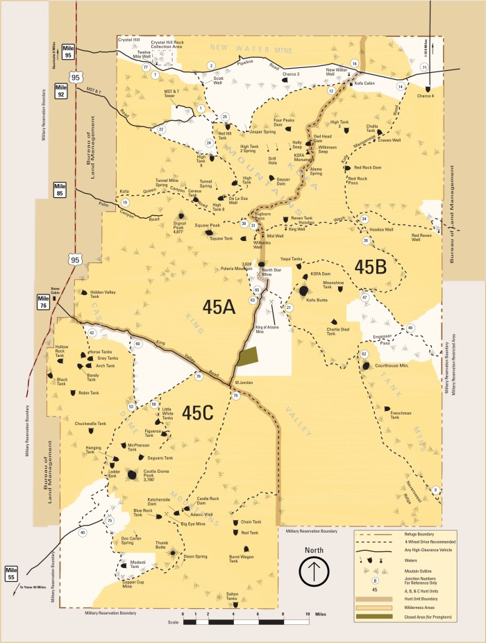 kofa national wildlife refuge map