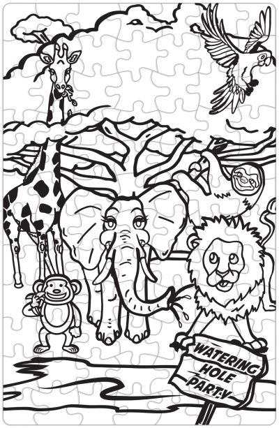 Get Your Cray On Puzzle - Safari Animals
