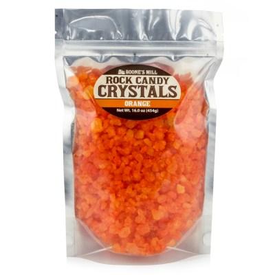 Orange Rock Candy Crystals in 1 pound bag