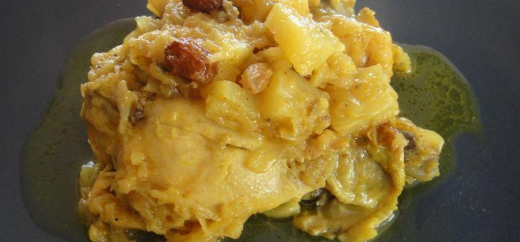 Pollastre al curry amb pinya