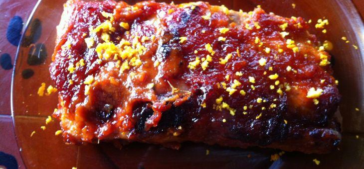Costelles de porc amb salsa barbacoa