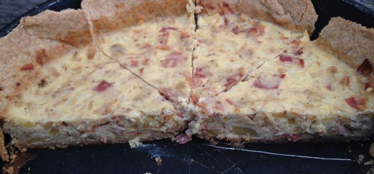Quiche de poma, bacon i formatge Idiazábal