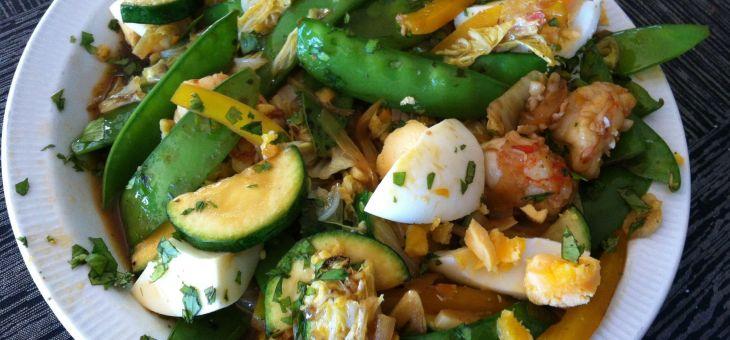 Curry de col xina i gambes
