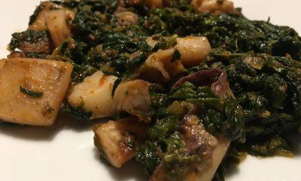 Sípia amb espinacs