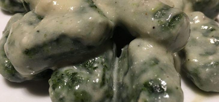 Nyoquis de patata i espinacs/nyoquis de ricotta i espinacs