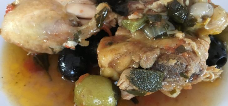 Pollastre amb olives