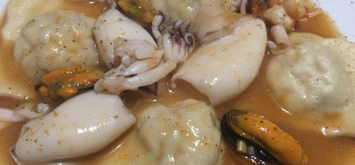 Raviolis de peix amb marisc
