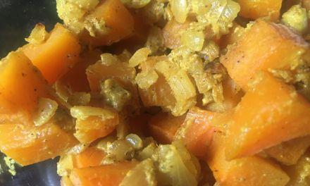 Gratinat de carbassa al curry
