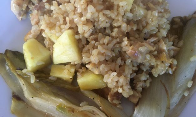Arròs amb endívies al curry