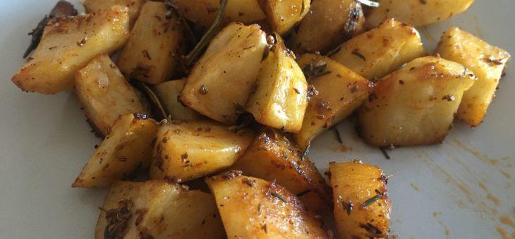 Patates al forn amb harissa i all confitat