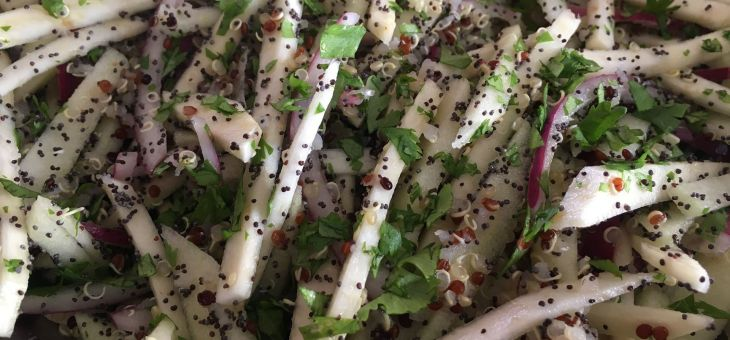 Amanida d´apirave, quinoa i poma