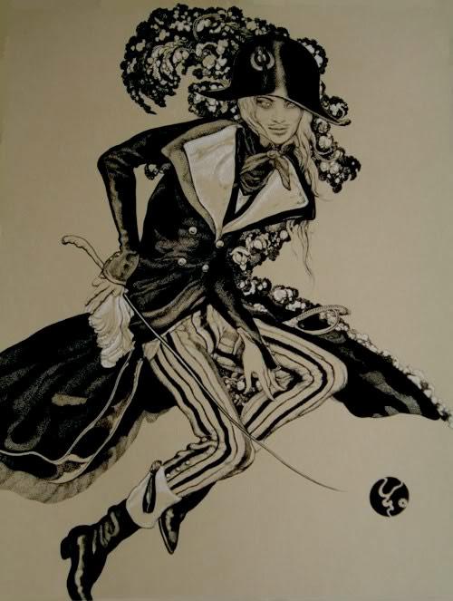 Artist Vania Zouravliov hat sword costume six drawing