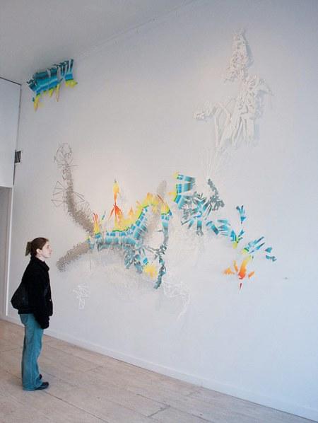 adriane colburn artist paper cut installation