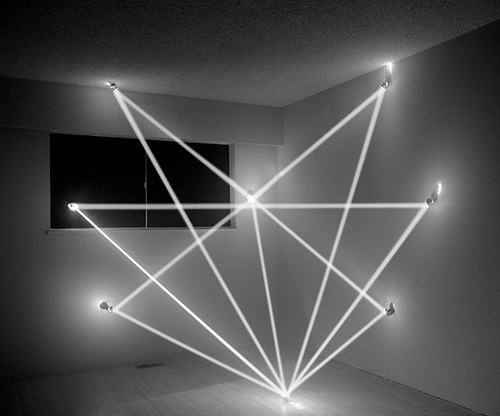 Trace Heavens light installations by artist James Nizam
