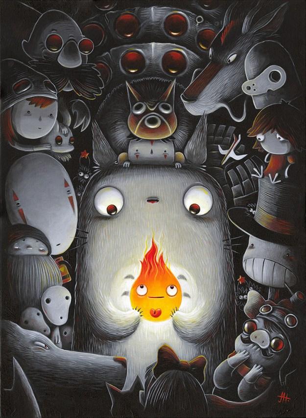 """Miyazaki9 Spoke Art's """"Miyazaki in Los Angeles"""" Art Design"""