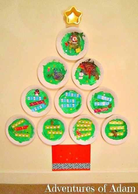 Paper Plate Christmas Tree - Adventures of Adam