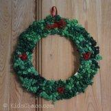 Tissue Paper Plate Wreath - Kids Choas