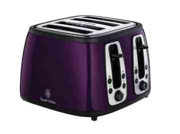 Russell Hobbs 18441 Heritage 4SL Toaster, Purple