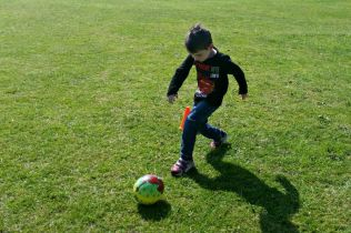 Family fun at Bure Park, Great Yarmouth - Tigger football