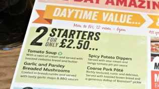 Brewers Fayre - Daytime Value Starters
