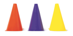 Multicoloured cones, £2