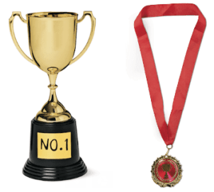Trophy, £3 and medal £2