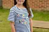 Rockin' Baby Florence Strip Bunting Applique Tee - Overview