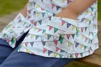 Rockin' Baby Ivy Bunting Print Blouse - Pockets