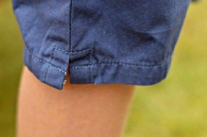 Rockin' Baby Maise Crop Sailor Trousers - Leg vent