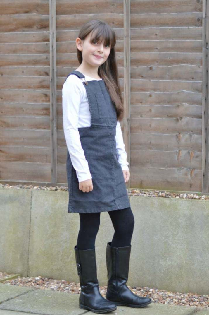 Milk & Biscuits - Pinafore Dress (Roo standing)