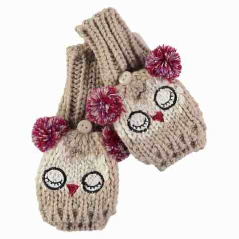 Rockin Baby Owl Applique Gloves