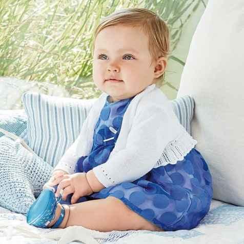 Baby girl polka-dot dress